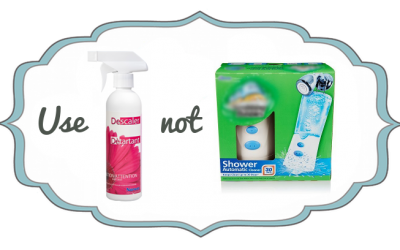 Use This, Not That! Chemical Shower Cleaner vs Norwex Descaler