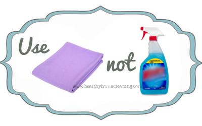 Use THIS, Not THAT! Norwex Window Cloth vs. Window Cleaner