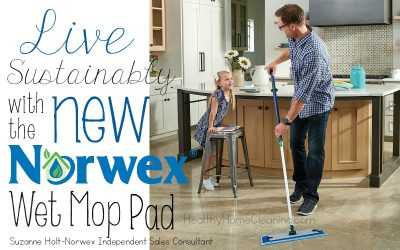 Clean Up More Than Just your Kitchen Floor with the New Norwex Microfiber Wet Mop Pad!