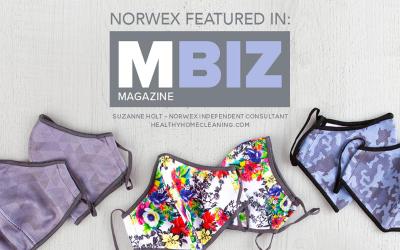 Extra! Extra! Norwex Masks Featured in MBiz Magazine!